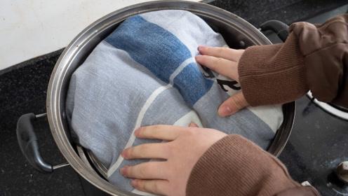 毛衣放到蒸锅蒸15分钟,真厉害,解决冬天男生女生都困扰的难题