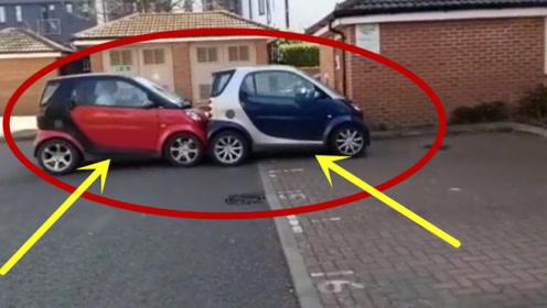 两辆汽车互帮互助,全程文明又礼貌,真是个小可爱呢!