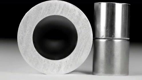 实验,不锈钢块与钕磁铁通过铝管时的区别,什么原理?