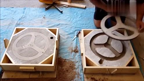 铸造牛人翻砂铸造铝滑轮,翻砂做得好,铸件就是优质,佩服!
