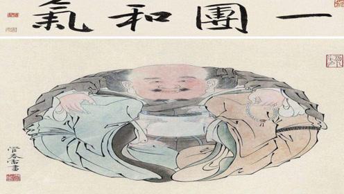 故宫最奇特的一幅画,远看一个人,近看三个人,网友:越看越可怕