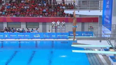 """菲律宾灵魂跳水,最后得了一个0分,网友吐槽""""水中跪族"""""""