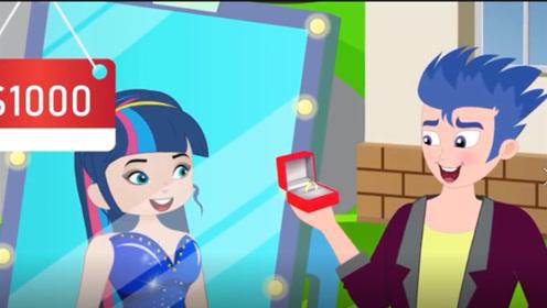 """年轻女孩体验""""魔镜"""",想给男友惊喜,不妙男友却被店员吸引"""