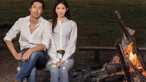 新婚林志玲携AKIRA拍封面 亲密坐老公腿上亲吻超用力