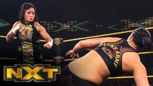 【NXT538期】中国女将李霞炸弹摔报复善娜 大招旋风脚落空落入王牌锁