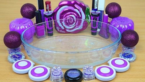 用紫色化妆品、亮片珠子给透泰染色,无硼砂,得到超漂亮的泥巴