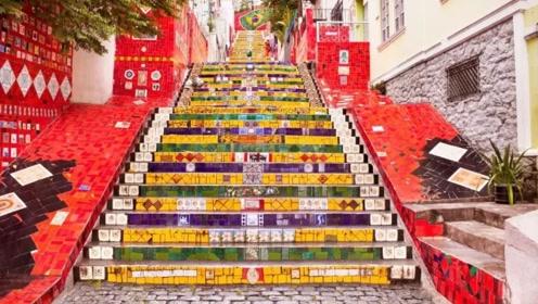 巴西会跳桑巴舞的台阶,250级台阶250样作品,中国游客:看到就想跳舞
