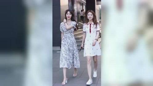 街头偶遇两位气质小姐姐,你更喜欢哪一个呢?