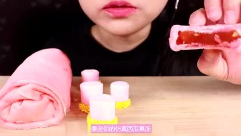 少女粉主题的樱粉甜点派对,亮晶晶的果冻像水晶一样,看着都心动