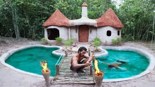 趣味原始生活:修建天然游泳池