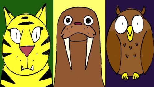 快乐英语:疯狂动物英语字母与英语单词,书适优阅儿童英语
