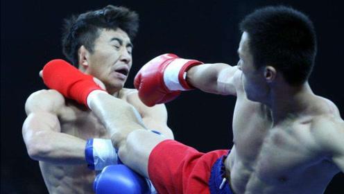 日本拳手惨被飞膝KO!这个蒙古猛将太强了,打的对手晕厥认输!