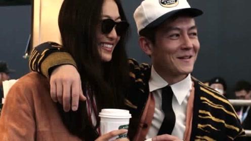 陈冠希靠在老婆秦舒培肩上甜笑 两人品咖啡热聊心情佳
