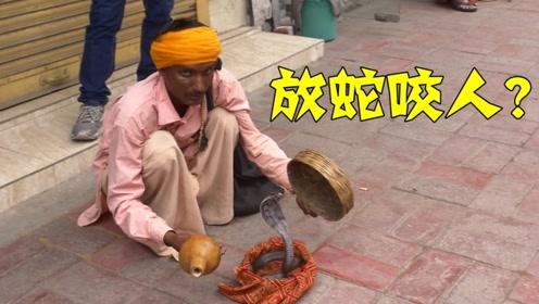 太恶劣了!印度路边耍蛇人,威胁中国小哥给钱,竟然要放蛇咬人