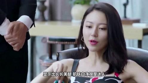 她签约杨幂工作室10年才红,今穿蓝色镶钻丝绒西装,复古高调