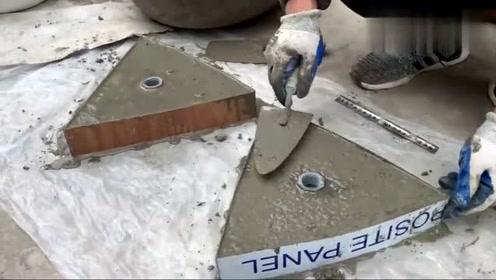 用水泥做的三角形,一开始没看懂,没想到成品那么赞!
