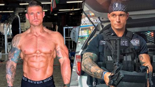 火遍全球的肌肉警察,高1米8重270斤,让罪犯闻风丧胆!