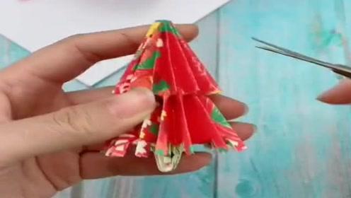 收放自如的折叠花伞,只用一张纸,很简单就能折出来!