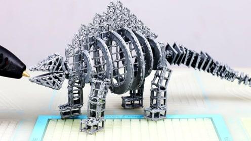 你敢相信吗?这是用3D打印笔画出来的,现在的科技太发达了!