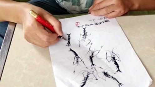 残疾男孩自学画虾堪比大师,活灵活现走红网络!