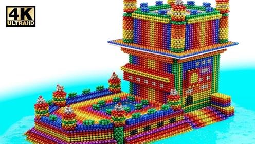 巴克球创意,制作霸气的轮船,上面还有城堡!