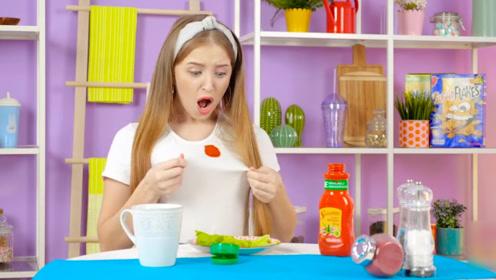 番茄酱弄脏衣服怎么办,不要用洗衣粉,这个东西1分钟就洗干净!