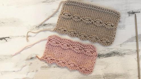 毛线编织-简单又漂亮的麻花条纹图案