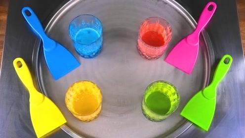 超高颜值的彩虹冰淇淋卷,一分钟就学会,女儿天天吃不够
