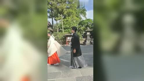 上班路上,碰到的日本婚礼,竟然这种音乐,网友:这音乐真受不了