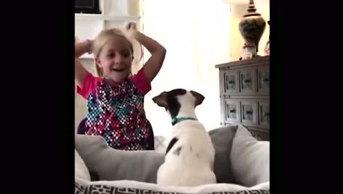当孩子们收到他们梦寐以求的狗狗礼物时,从此生命相拥此生同行!
