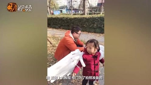 宠上天!杭州爸爸花两个晚上自学教程为俩女儿自制气球翅膀