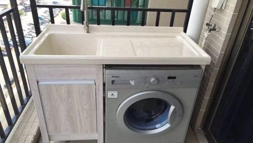 为什么空间那么小还要放一个洗衣机,为什么不把它放在阳台?