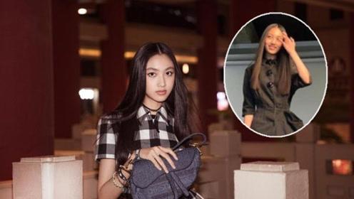 任达华14岁女儿任晴佳,对比木村光希,这身高,这腿,绝了