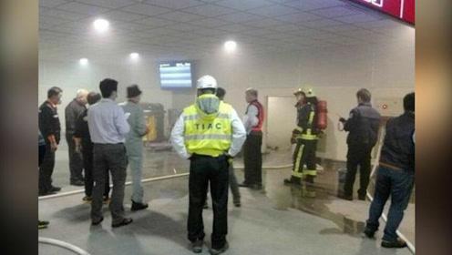 现场:烟雾滚滚疑电线短路桃园机场四天两起事故