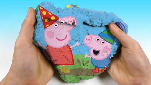 创意diy小猪佩奇3d电影蒙太奇,论创意我只服魔力太空沙!