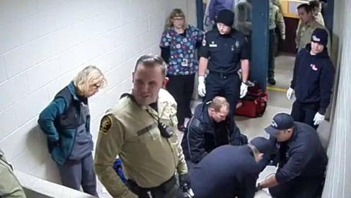 精神病男全裸被绑46小时 狱警谈笑风生看他死亡