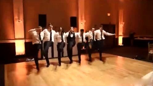 婚礼现场,好兄弟舞蹈助阵新郎官,新娘哭笑不得!
