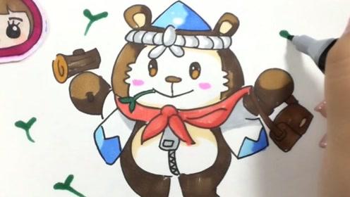 可乐姐姐学画画 绘本故事-小白兔