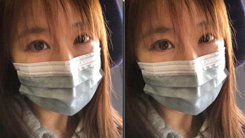 林心如戴口罩素颜自拍难掩憔悴 空气刘海很减龄