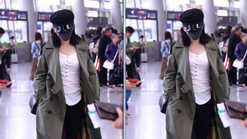 谢娜录完《快本》节目现身机场回家 被拍到大腿显粗壮
