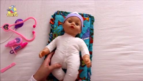 可爱的小娃娃与米奇妙妙屋娃娃安抚玩具套装