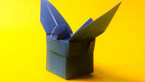 手工折纸 收纳系列 实用好看的和平鸽收纳盒折纸