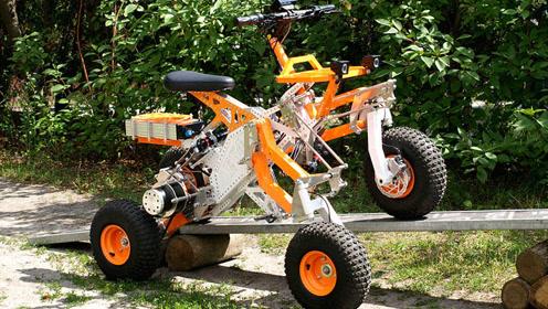 电动越野四轮车,像辆玩具车,最高时速35续航60公里,售价两万