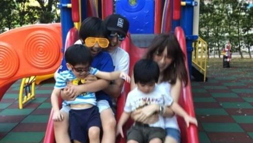 林志颖带儿子玩滑梯,陈若仪穿了双长靴,但脚趾头成这样了!
