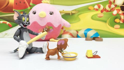 卡通可爱玩具手办猫和老鼠模型摆件试玩