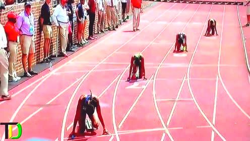 牙买加42秒25女子4乘100米伊莲汤普森秒杀外国最终一棒