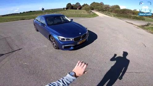 劳斯莱斯蓝 BMW 750Li M Sport 驾驶 评论 高速公路