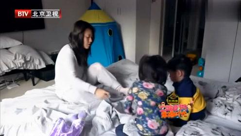 潘阳让儿子自己穿袜子,结果儿子的反应竟是这样!网友:太可爱了