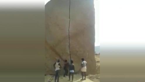 只要坚持,铁柱都能磨成针,他们做到了,石头真的砸开了