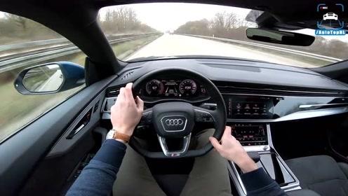 全新 奥迪Q8 S Line上高速,这高品质行驶质感,还要啥宝马X6?